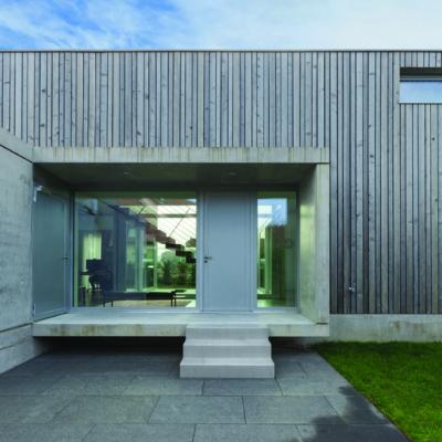 Außenansicht, modernes Gebäude