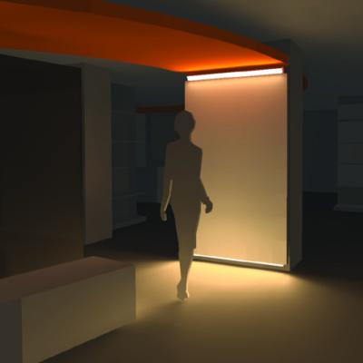 Beleuchtungssimulation eines Innenraums